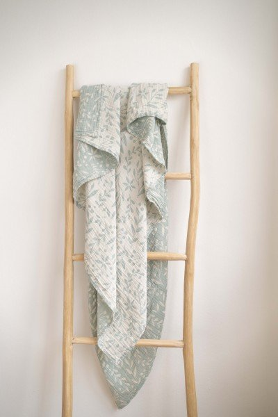 LIMAS Musselin Decke – Flora Mint