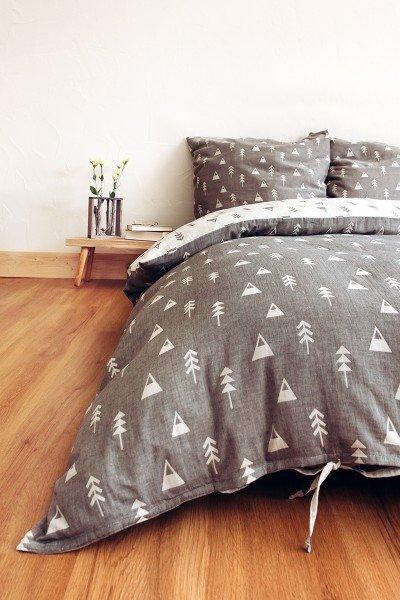 LIMAS muslin bed linen – Alaska Anthracite