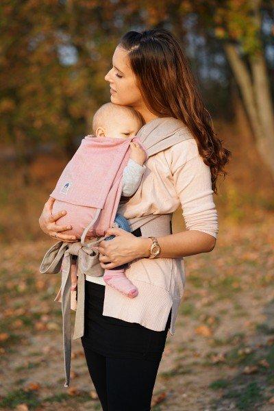 Porte-bébé LIMAS – Rose/beige